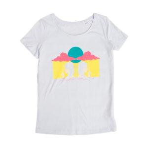 Camiseta Chica Paraguas Nube