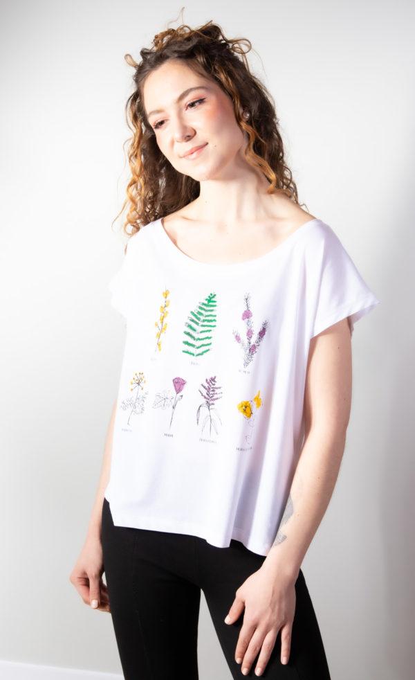 camiseta estampada algodón orgánico