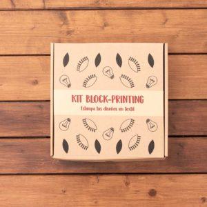KIT BLOCK PRINTING en textil